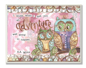 The Kids Room by Stupell Wall Decor, Owl Adventures Pastels Designer Prints And Wall Art For Kids Room