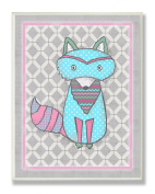 The Kids Room by Stupell Wall Decor, Bright Pink And Grey Raccoon Kids Room Décor And Wall Art