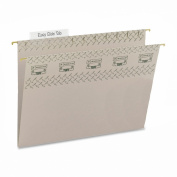 Smead TUFF® Hanging File Folder with Easy Slide(TM) Tab, 1/3-Cut Sliding Tab, Letter Size, Steel Grey, 18 per Box