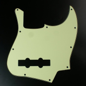 Replacement bass Guitar Pickguard For Jazz Bass 5 String JB ,3ply Vintage mint green