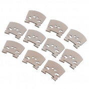 Lsgoodcare 10pcs Full Size 4/4 Violin Maple Bridge Violin Parts