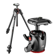 Manfrotto MT190CXPRO3 Carbon Fibre 3-Section Tripod with Horizontal Column, 160cm Max Height, Supports 7kg - Bundle With Manfrotto MHXPRO-BHQ2 XPRO Ball Head with Quick-Release