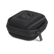DZT1968® Mini Hard Square Box Storage Bag Carrying Case With Around Zipper For Earphone Headphone SD Card