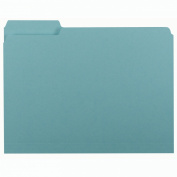 Smead Interior File Folder, 1/3-Cut Tab, Letter Size, Aqua, 100 per Box