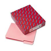 Smead Interior File Folder, 1/3-Cut Tab, Letter Size, Pink, 100 per Box