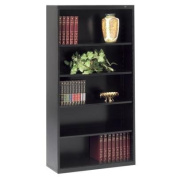 Tennsco B66BK 34-1/2 by 34cm by 170cm Metal Bookcase with 5 Shelves, Black