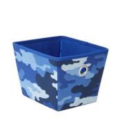 Small Juvenile Storage Bin - Camo Blue