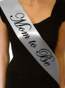 Silver Mom to Be Baby Shower Sash - great gift, decoration