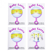 Baby Shower Lottery Raffle Lotto Game Cards for Party Activities, Lucky Prize Favours, Decoration, Ideas 10cm - 0.6cm x 13cm - 1.3cm inch (24 Pack) by Super Z Outlet®