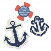 Ahoy Nautical - DIY Shaped Small Party Cut-Outs - 24 Count
