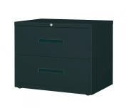 Office Dimensions Commercial 2-Drawer Lateral File, 110cm Wide, Black