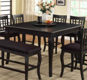 Milton Greens Stars 8828BK Burgos Counter Height Table with Lazy Susan, 54 by 140cm by 90cm , Black