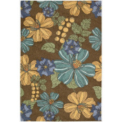 Nourison South Beach Indoor/Outdoor 8.0X10.6 Chocolate Area Rug, 100% Polyester