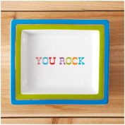 """Two's Company Wise Sayings Desk Tray, """"You Rock"""""""