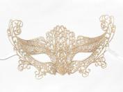 Gold Macrame Lingerie Venetian Masquerade Mask