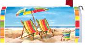 Custom Decor Beach Chairs Mailbox Cover