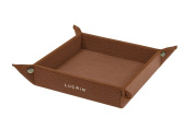 Lucrin - Small square catchall (16cm x 16cm x 3cm ) - Tan - Granulated Leather