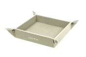 Lucrin - Small square catchall (16cm x 16cm x 3cm ) - Off-White - Granulated Leather