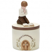 Boy's First Communion Resin Keepsake Box