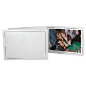 Printed MARBLE Cardstock Photo Folder Single 7x5 Horizontal Frame sold in 25s - 5x7