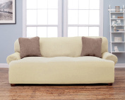 Savannah Collection Basic Strapless Slipcover. Form Fit, Slip Resistant, Stylish Furniture Shield / Protector Featuring Lightweight Fabric. By Home Fashion Designs Brand.