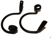 Curtain Tiebacks-Scroll Ends! Pair--Amish Made Wrought Iron