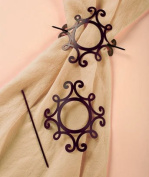 Sets of 2 Curtain Tie-backs- Scroll