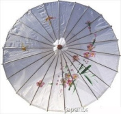 White Colour Kid's Size Asian Oriental Chinease Japanese Parasol 60cm