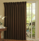 Eclipse Thermal Blackout Patio Door Curtain Panel, 250cm x 210cm Chocolate