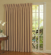 Eclipse Thermal Blackout Patio Door Curtain Panel, 250cm x 210cm Wheat