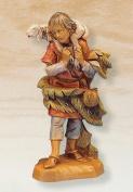 Fontanini 13cm Shepherd Gabriel with Lamb Christmas Nativity Figurine #72551
