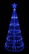 1.8m Blue LED Light Show Cone Christmas Tree Lighted Yard Art Decoration