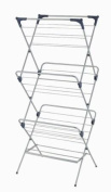 YBM Home 3 Tier Foldable Clothes Steel Drying Rack #1582-10
