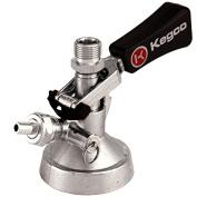 Keg Taps Coupler G System - Ergonomic Lever Handle - Stainless Steel Probe - Kegco KT3102W-G