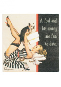 Laid Back CS11029 A Fool and His Money Cocktail Napkin, 13cm by 13cm , Set of 20