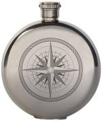 Kikkerland 150ml Compass Canteen Flask, Large