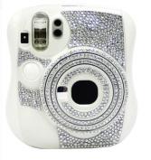 DIY Bling Crystal Diamond Decoration Decor Sticker for Fuji Fujifilm Instax Mini 25 Camera- Silver