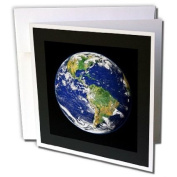 3dRose Greeting Cards, 15cm x 15cm , Pack of 6, Print of Planet Earth From Space