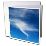 3dRose Greeting Cards, 15cm x 15cm , Pack of 6, Print of Photo of A tornado Forming