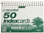 Roaring Spring Co Wirebound Ruled Index Cards - 7.6cm x 13cm - 50 Cards per Pad