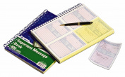 Adams Phone Message Book, 20cm x 28cm , Spiral Bound, 2-Part, Carbonless, 4 Messages per Page, 400 Sets, White and Canary