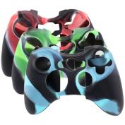 SunAngel® Soft Silicone Cover Case Skin for Xbox 360 Controller Camo