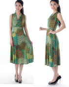 Silky Smooth Classic Dress - Peacock Design