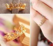 Small Sparkling Diamond Crown Ring