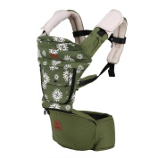 Tofern Multifunctional Front Back Baby Safety Carrier Baby Sling Infant Comfort HipSeat 5 Position Baby Carrier - Green