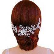 Clearbridal Women's Bohemian Crystals Frontlet Bridal Crown Tiara Wedding Jewlery 18081