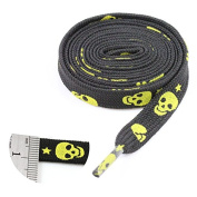 LoveLaces12mm FLAT WIDE 115cm & 120cm SKULL & STARS SHOE LACES TRAINERS COLOURFUL :FREE UK POSTAGE:BUY 2 GET 1 FREE