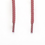 Rope Shoe Laces Two Tone - Dark Red / Grey