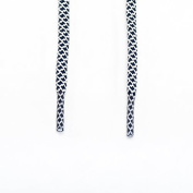 Rope Shoe Laces Two Tone - Navy Blue / White