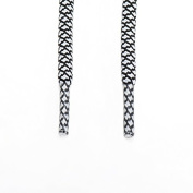 Rope Shoe Laces Two Tone - White / Black